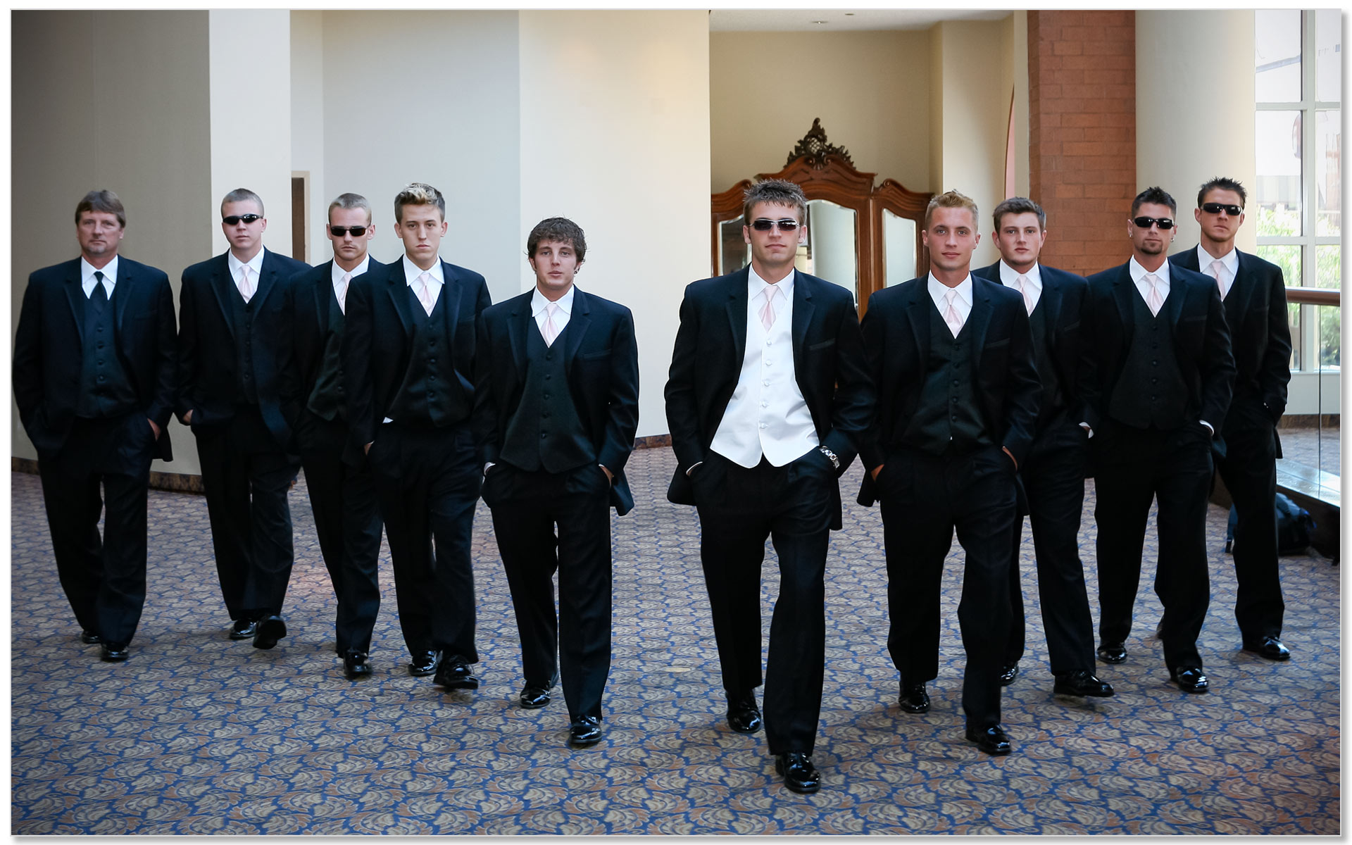 Cincinnati Music Hall Wedding Oceans 11 Groomsmen