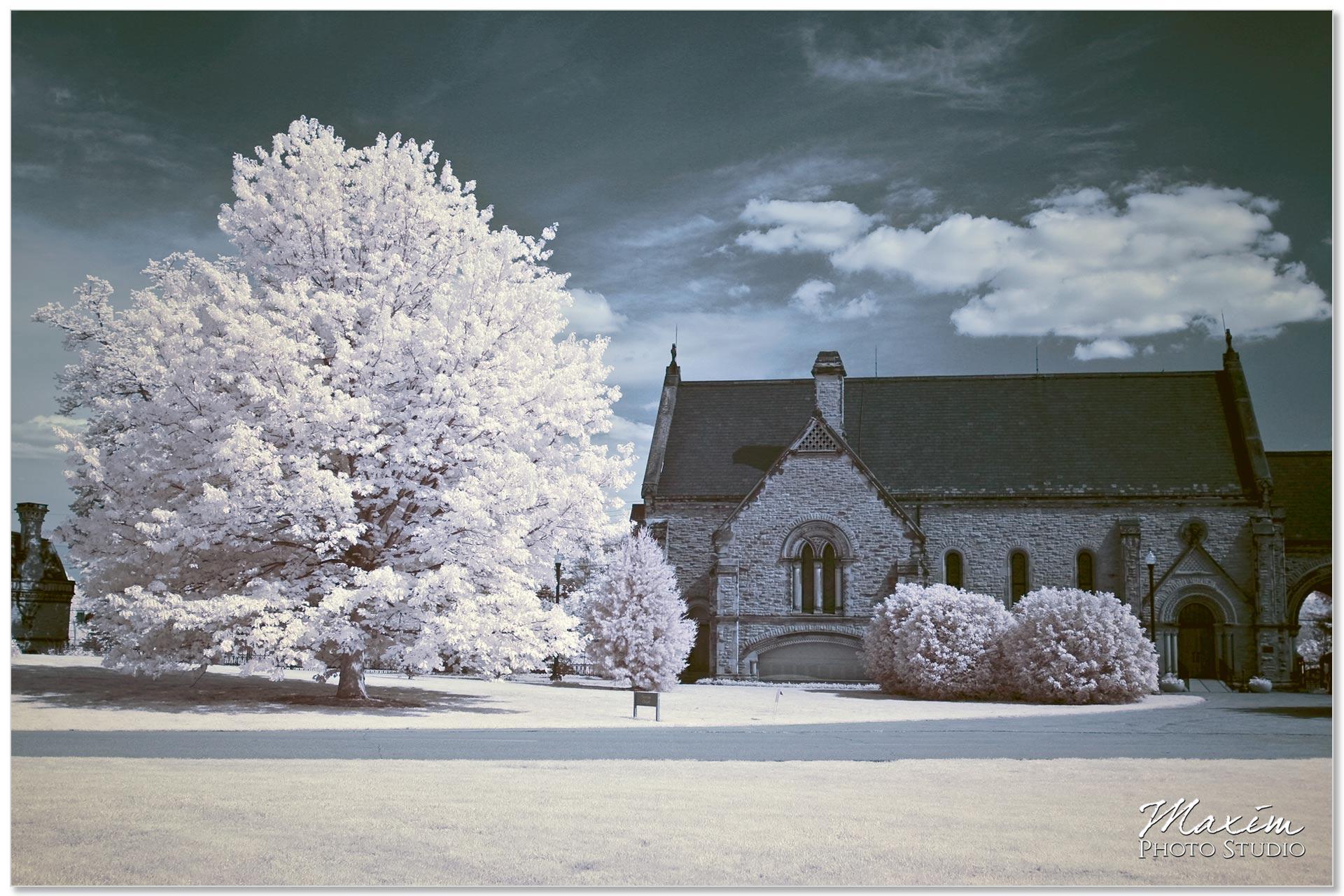 Norman Chapel Cincinnati Wedding Infrared picture