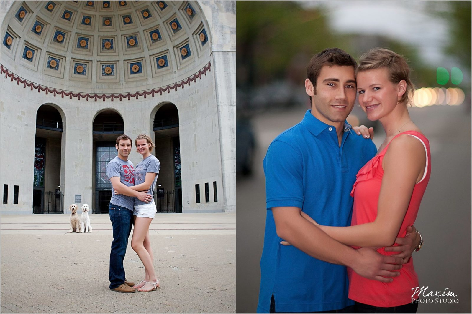 Ohio State University horseshoe engagement