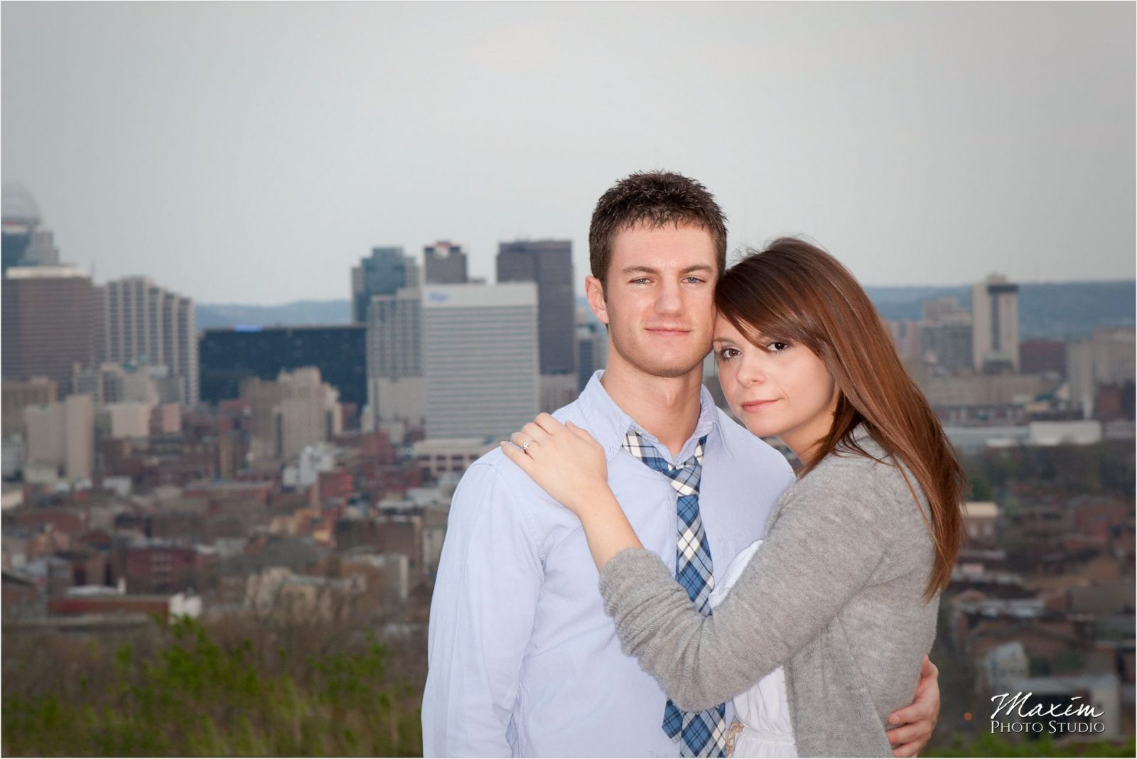 Cincinnati Skyline Engagement