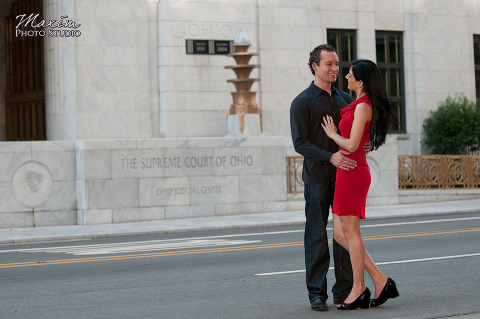 Downtown Columbus Wedding Engagement Photographer