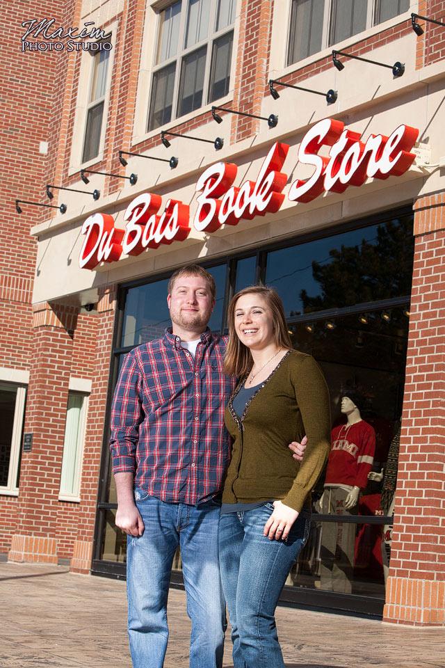Cincinnati Wedding Photographers DuBois Bookstore Engagement