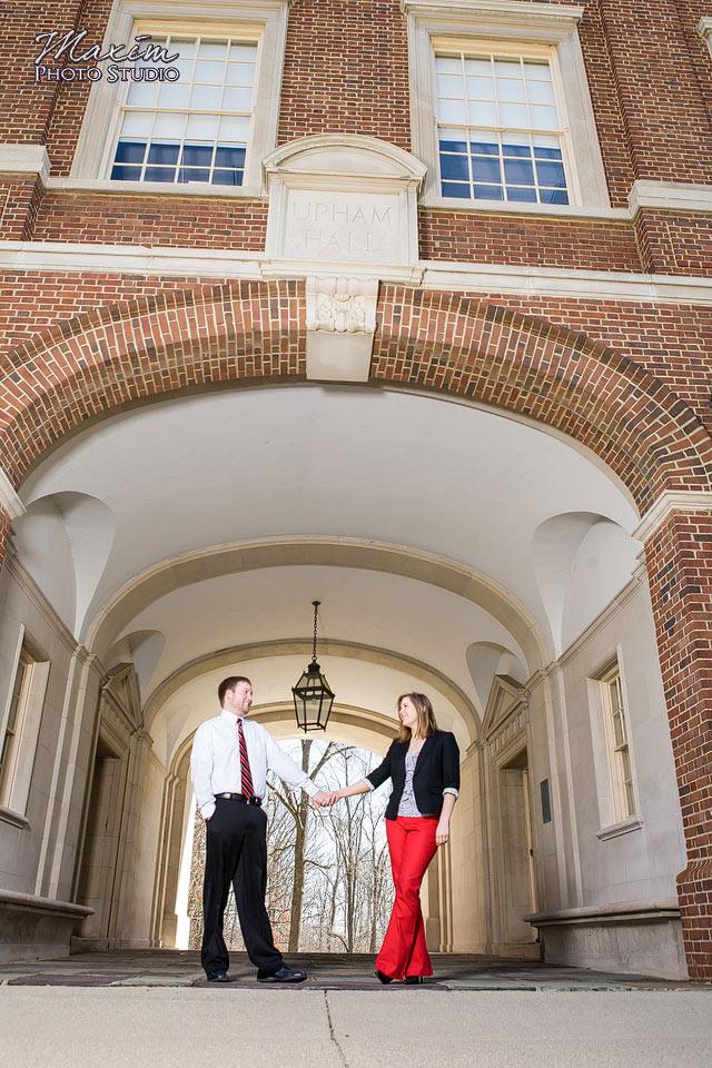 Cincinnati Wedding Photographers Upham Arch Engagement