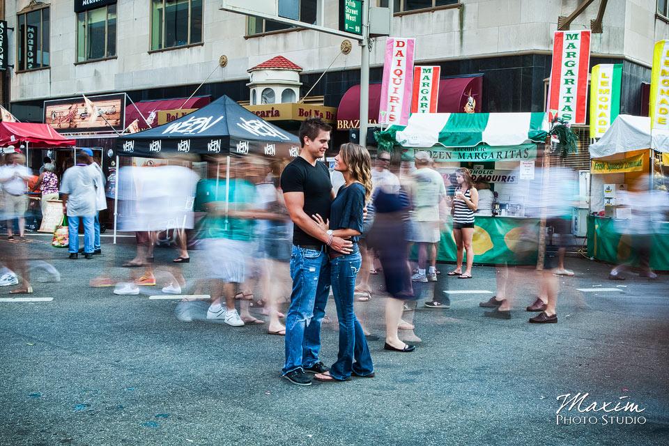 Taste of Cincinnati, cincinnati engagement, timelapse photography