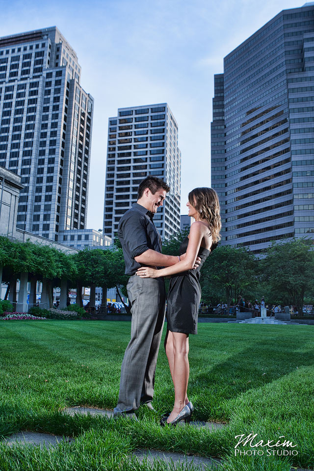P&G Gardens, cincinnati wedding engagement