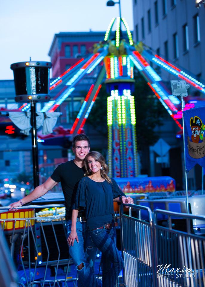 Taste of Cincinnati, cincinnati wedding engagement carousel