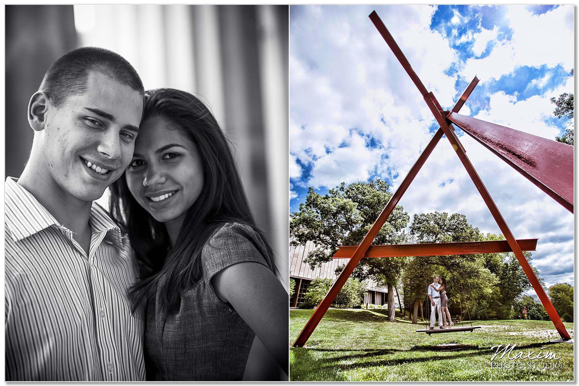 Cincinnnati Art Museum Engagement couple