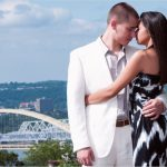 Eden Park Cincinnati Engagement couple