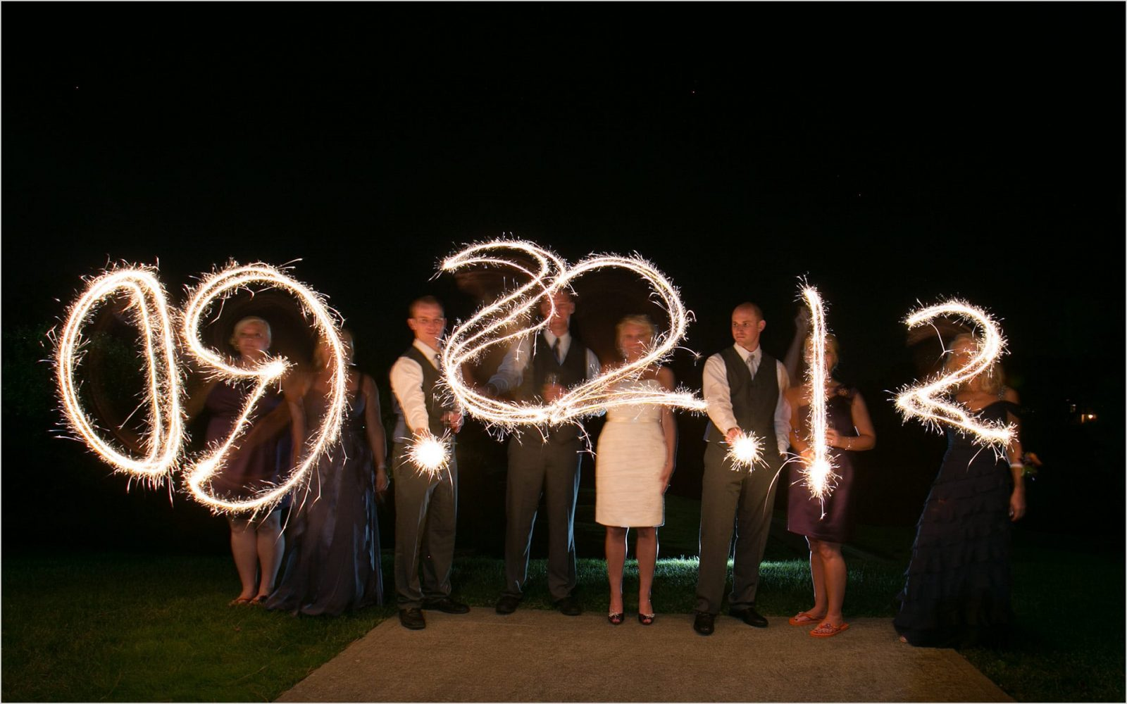 Cincinnati Wedding Photographers Pebble Creek Golf Club sparklers