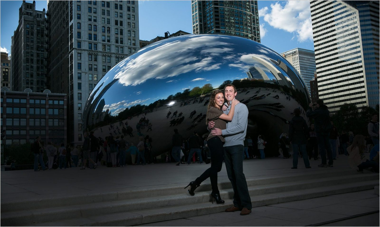 Downtown Chicago Engagement Photography Bean
