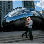 Downtown Chicago Bean Cincinnati Engagement Bride