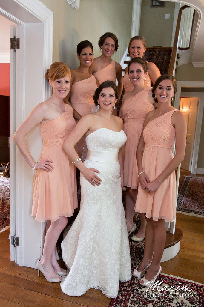 Bride Bridesmaids Cincinnati Wedding