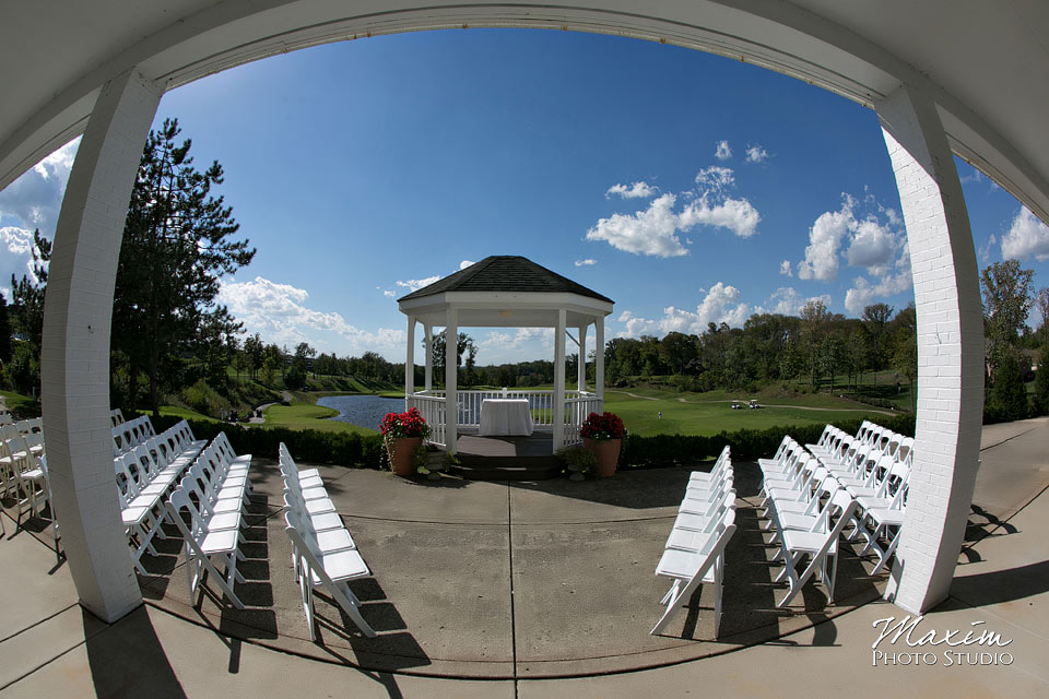 Pebble Creek Golf Club cincinnati wedding ceremony