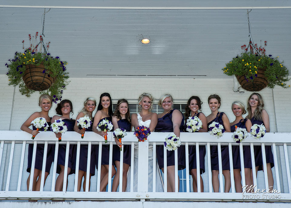 Pebble creek golf club wedding, Bride and bridesmaids, Cincinnnati Wedding