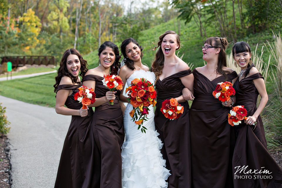 Anderson Center Wedding Bride and Bridesmaids