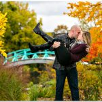 Cox Arboretum Dayton Ohio engagement couple