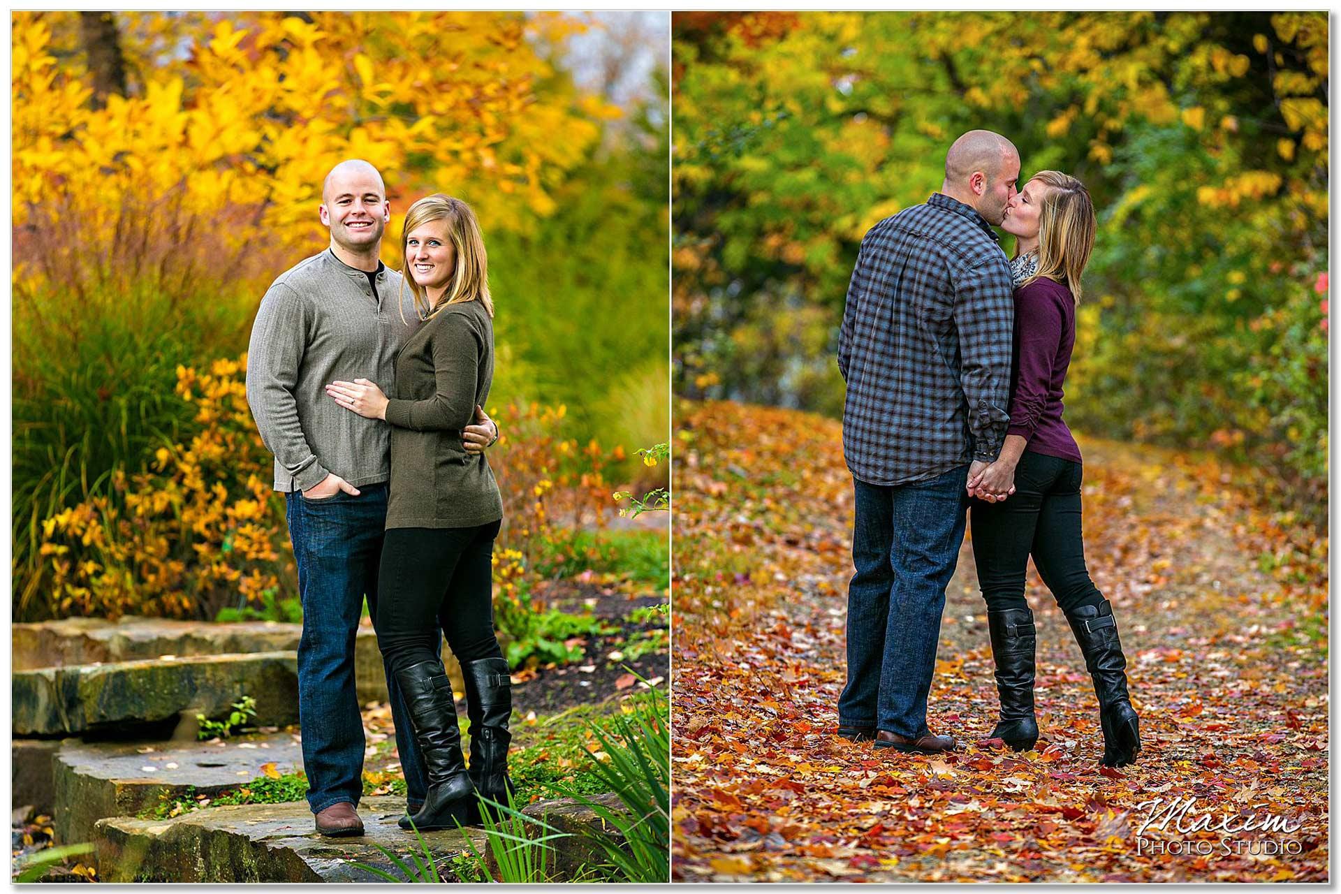 Cox Arboretum fall colors engagement Dayton Ohio