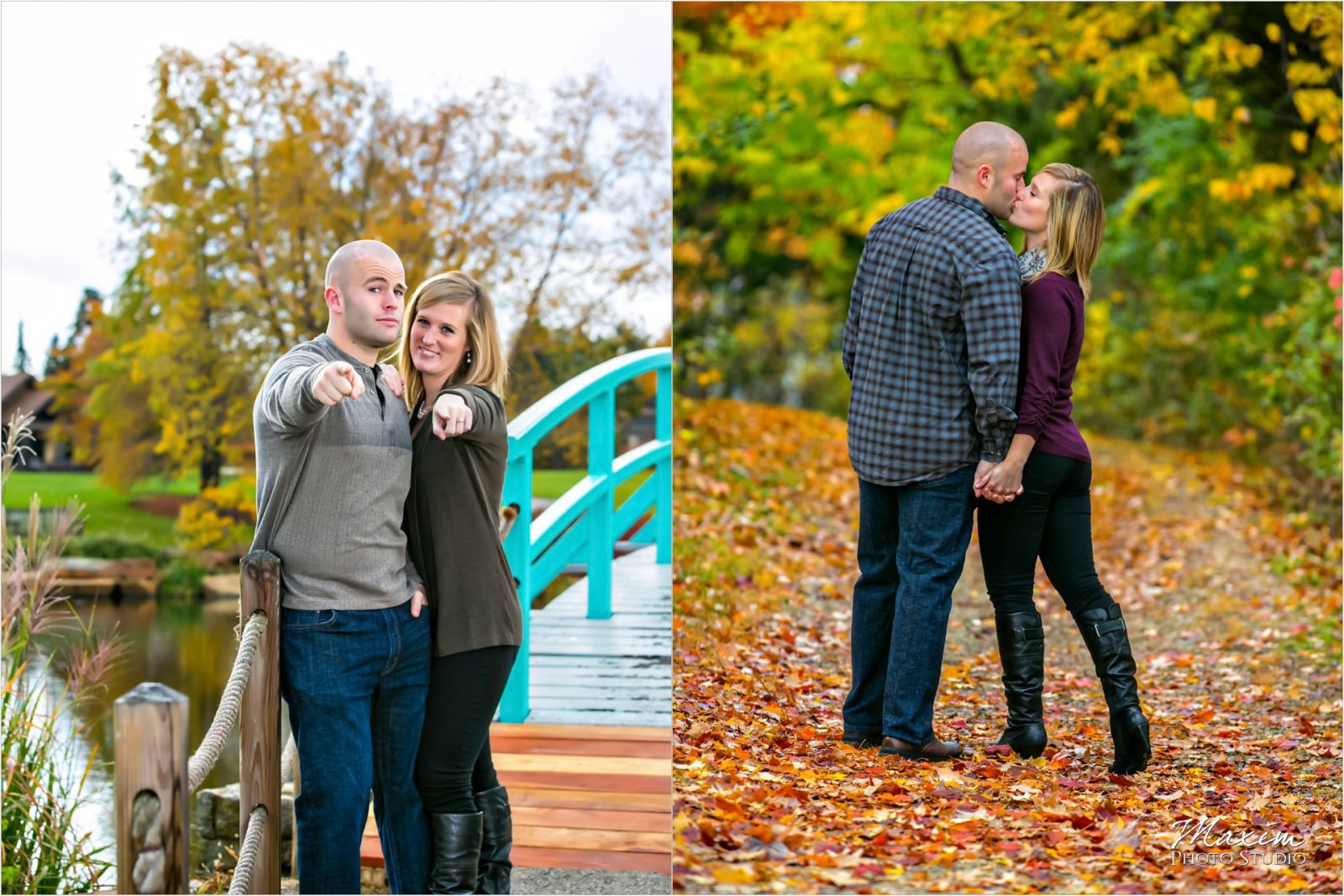 Cox Arboretum Dayton Ohio Fall Engagement