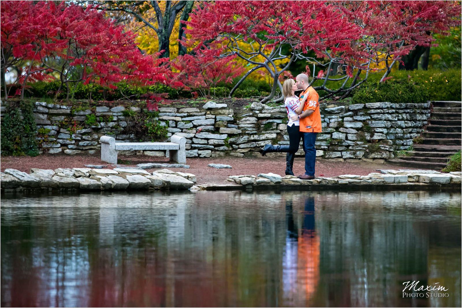 Cox Arboretum Dayton Ohio Fall Engagement