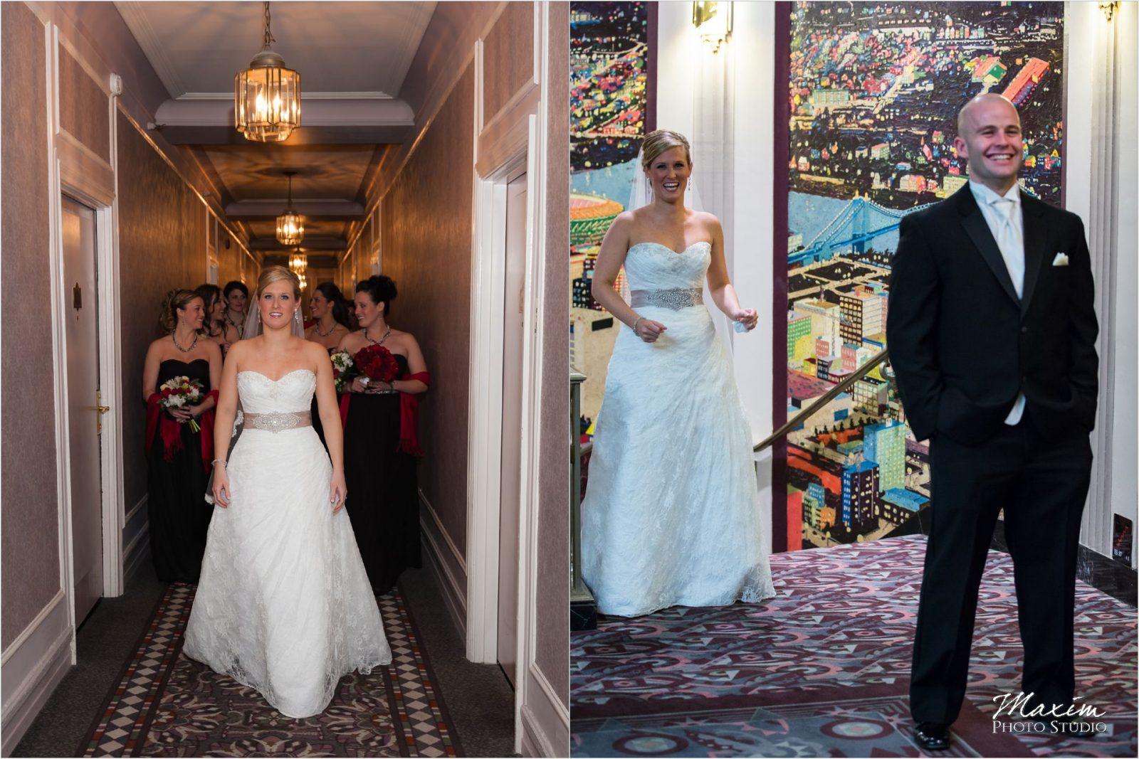 Hilton Netherland Plaza Wedding first look