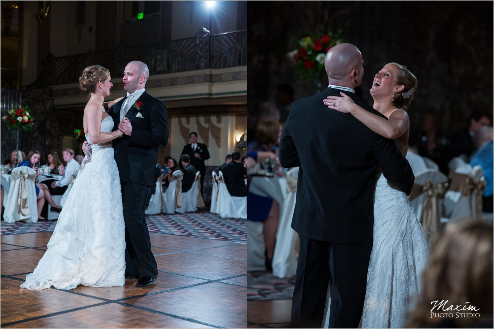 Hilton Netherland Plaza Cincinnati Wedding Reception dance