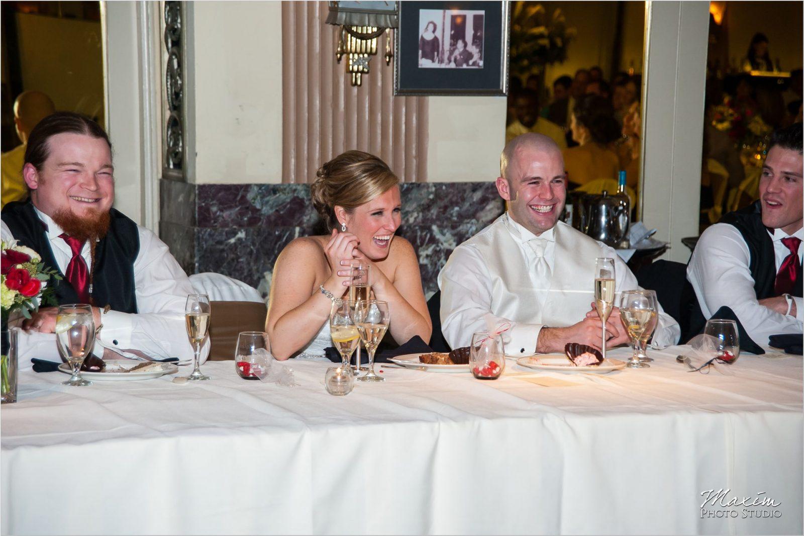 Hilton Netherland Plaza Cincinnati Wedding Reception Toast