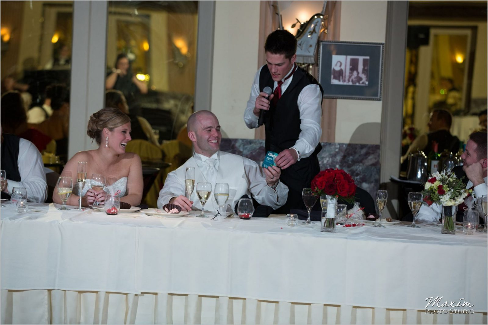 Hilton Netherland Plaza Cincinnati Wedding Reception Toast