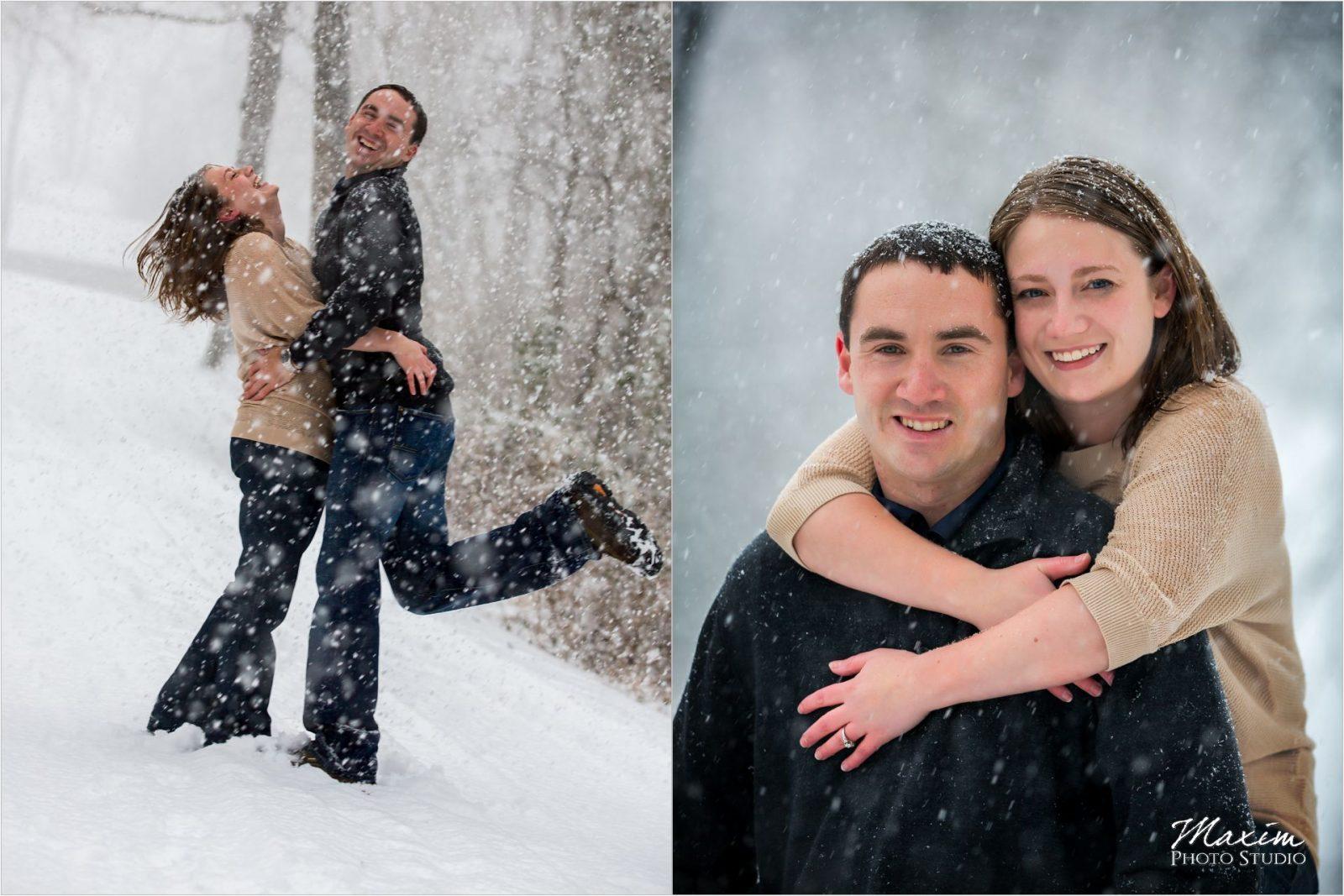 Loveland Cincinnati Ohio Snow engagement