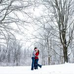 Loveland Cincinnati Ohio Snow engagement