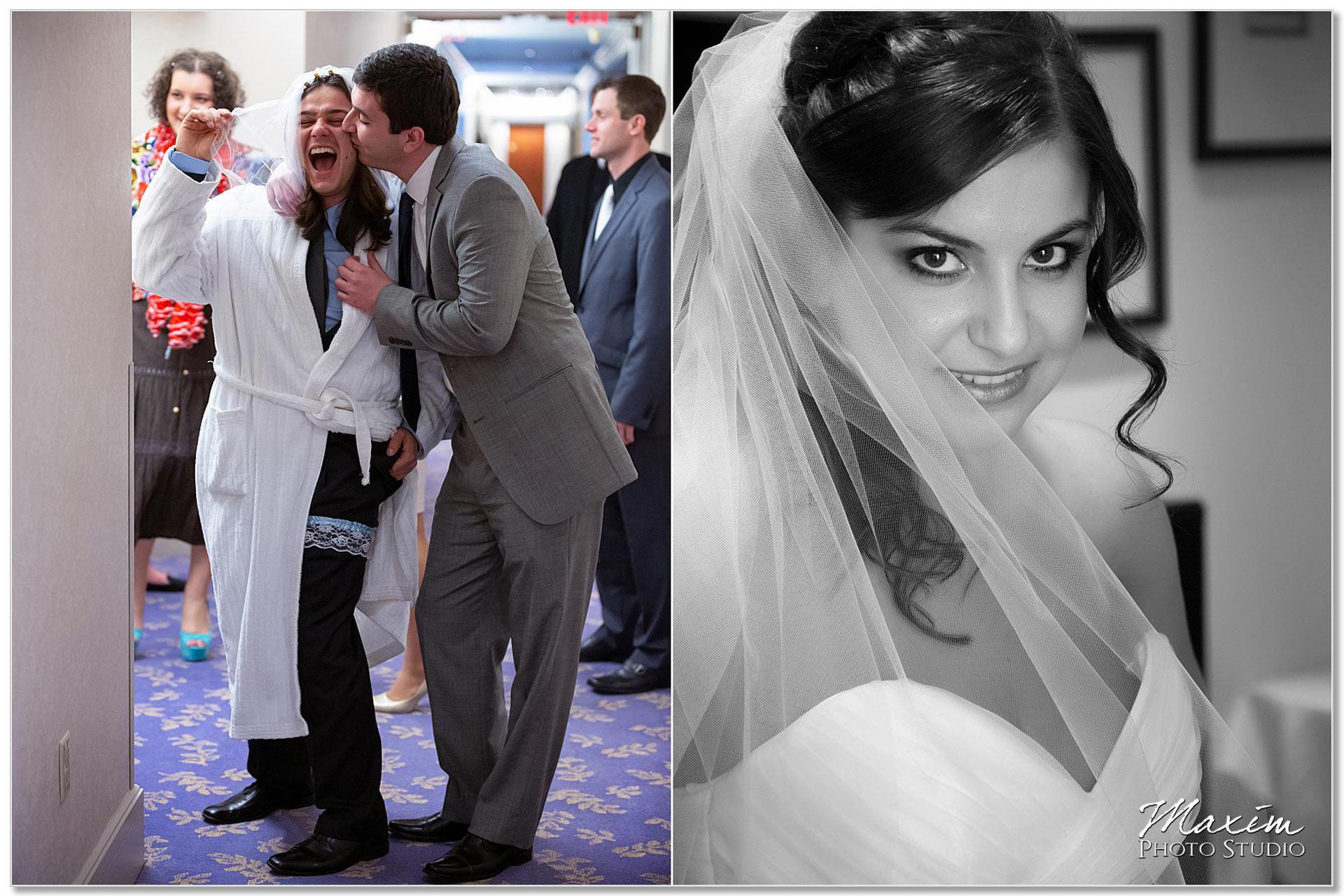 Cincinnatian Hotel bride preparations Russian wedding