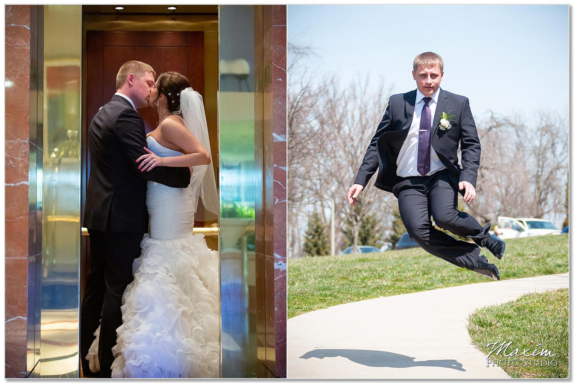 Alms Park Cincinnati bride groom