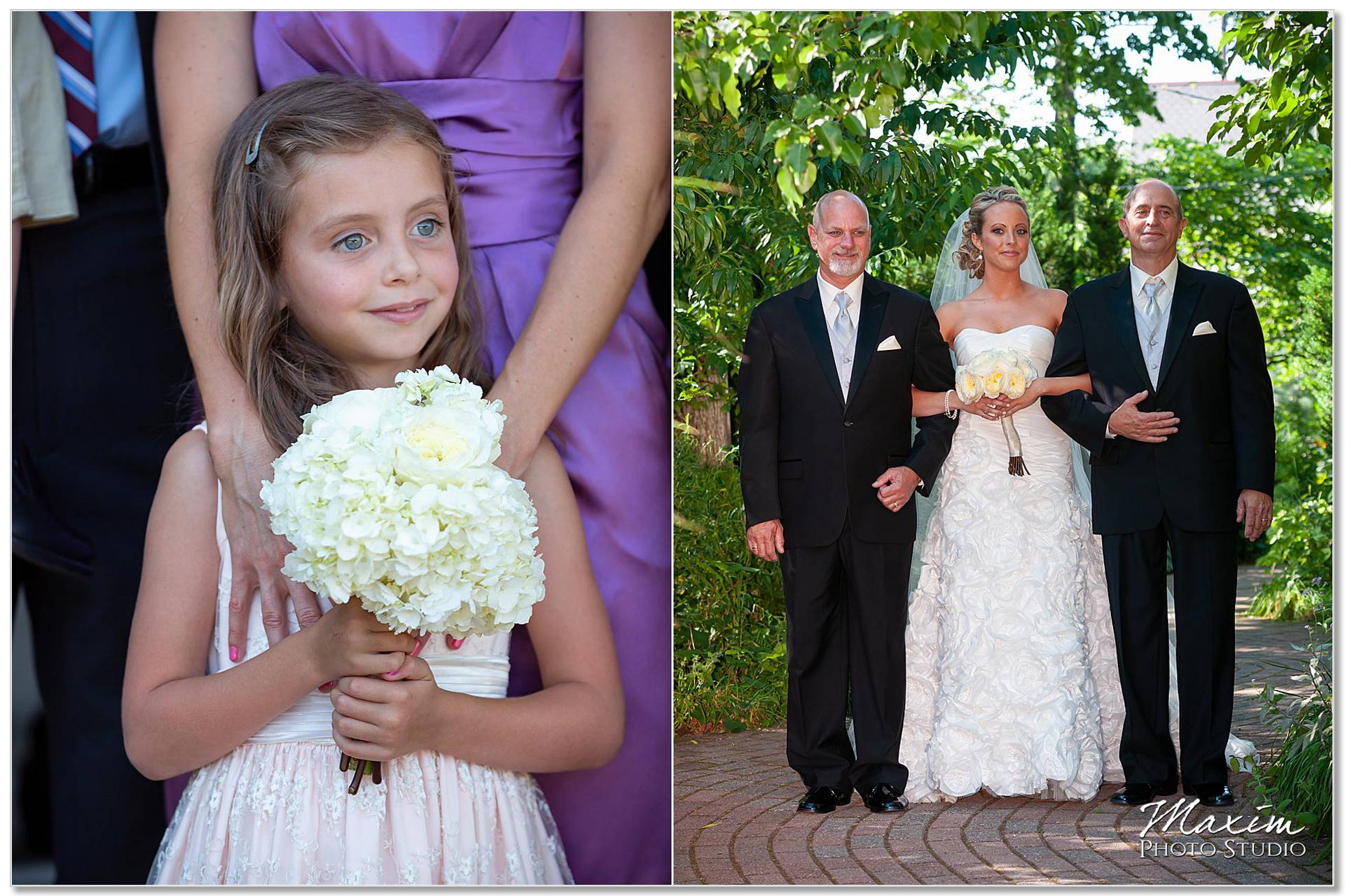 Taylor Mansion Columbus Ohio wedding bride flowergirl