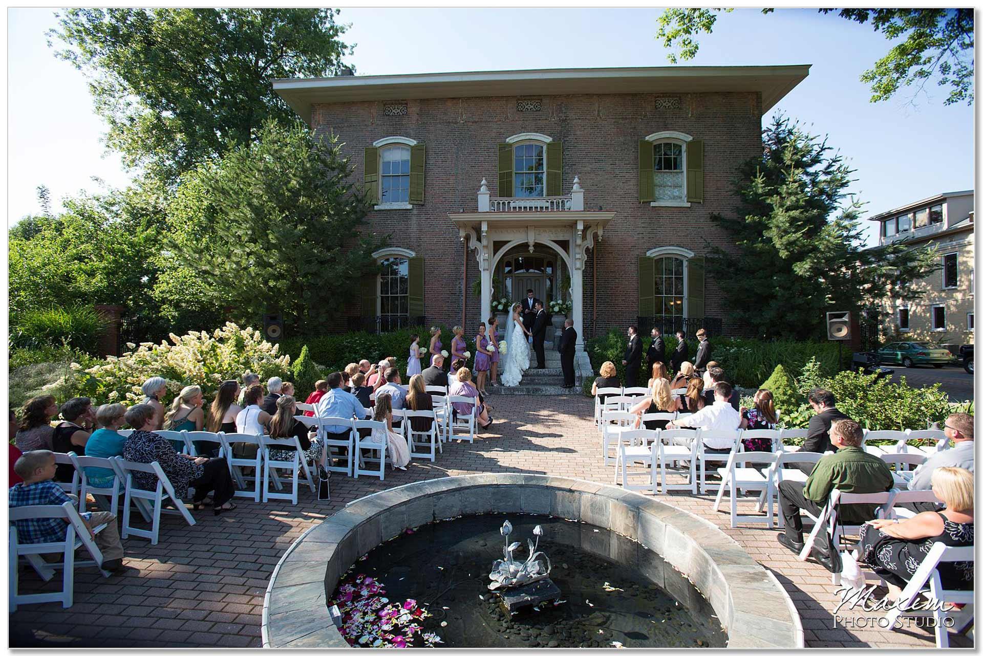 Taylor Mansion Columbus Ohio Wedding Ceremony