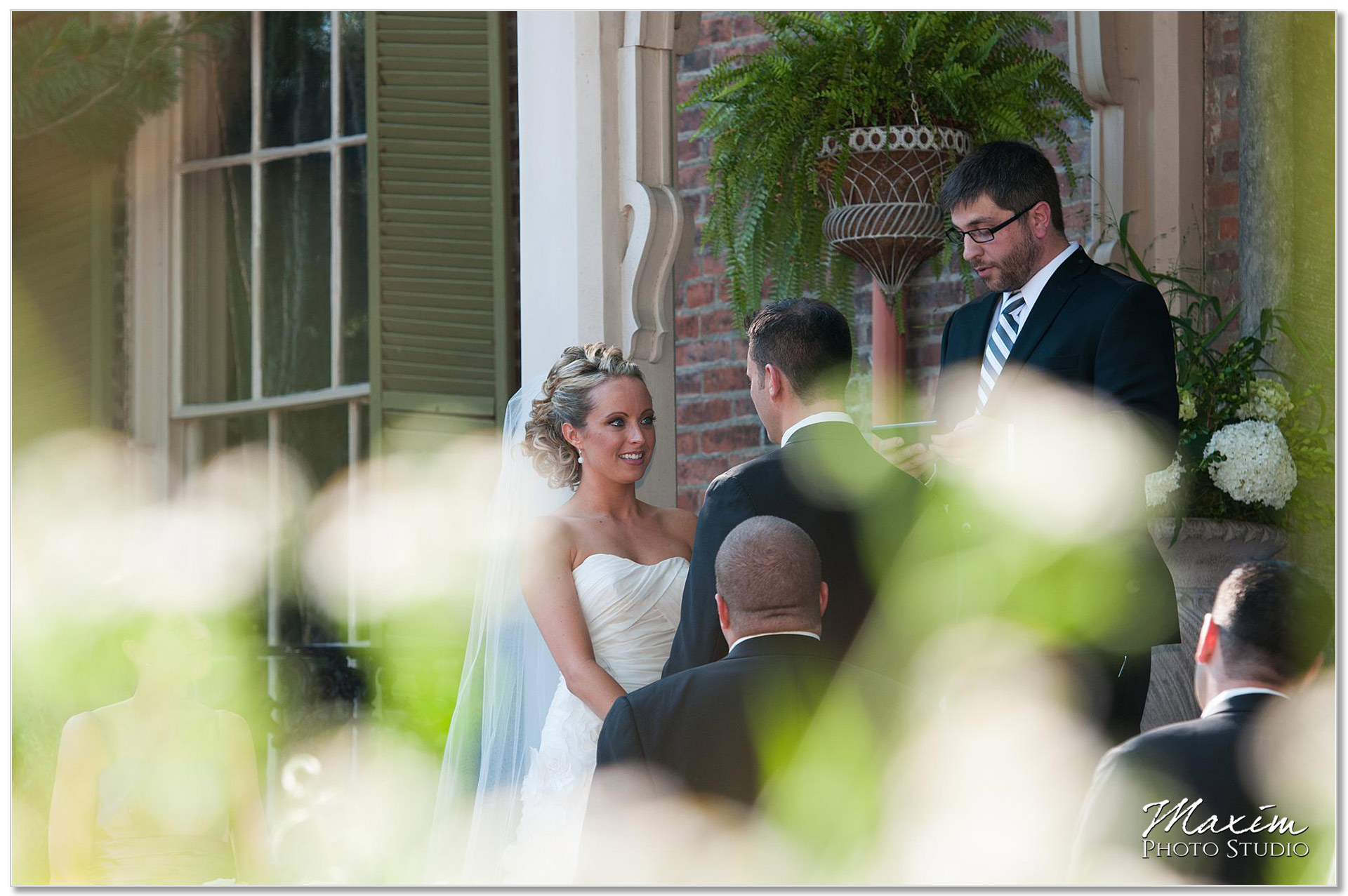 Taylor Mansion Columbus Ohio Wedding Ceremony