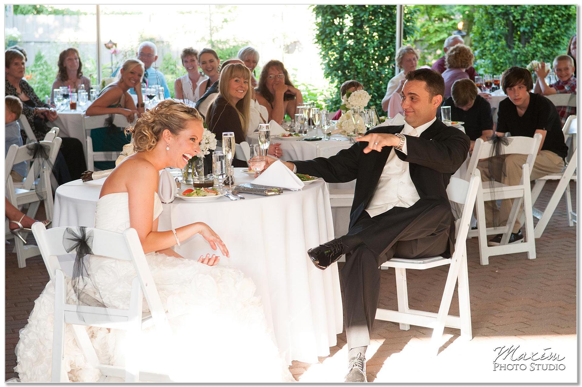 Taylor Mansion Columbus Ohio Wedding reception toasts