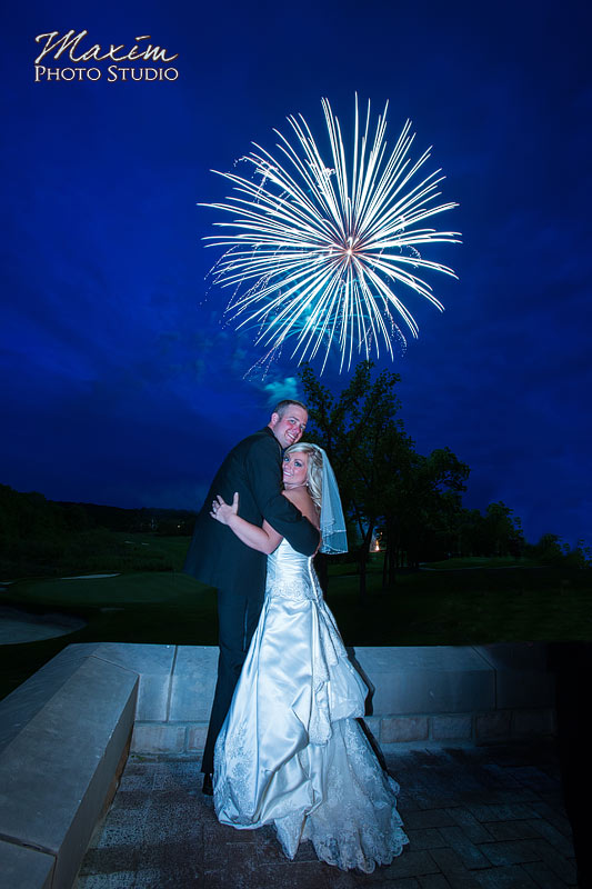 Country Club of the North Wedding Reception fireworks