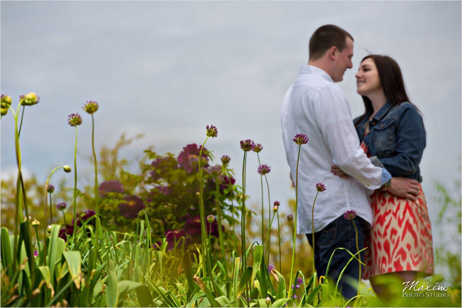 Cox Arboretum Dayton Ohio engagement flowers