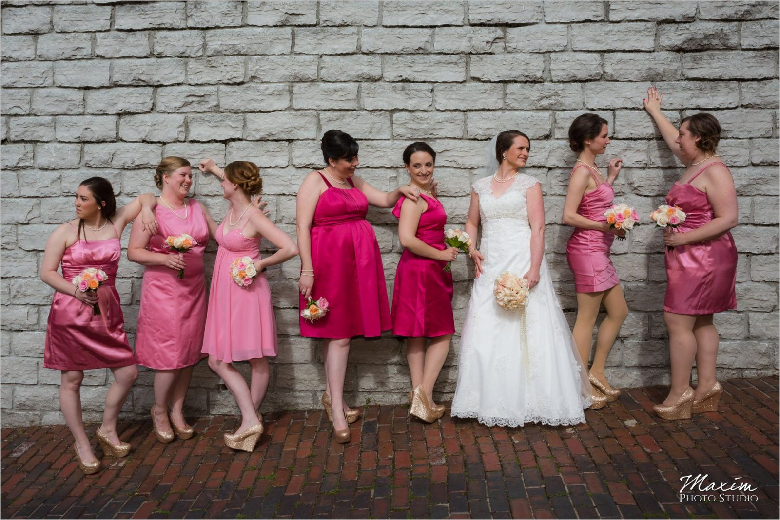 George Rodgers Clark Park Covington KY wedding bridemaids