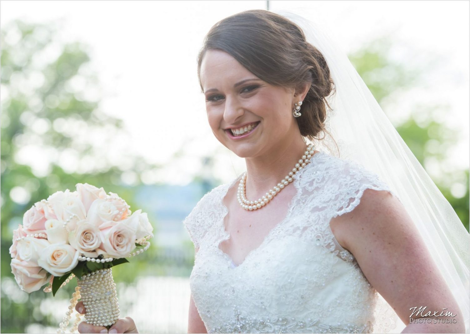 Cincinnati Skyline wedding Bride