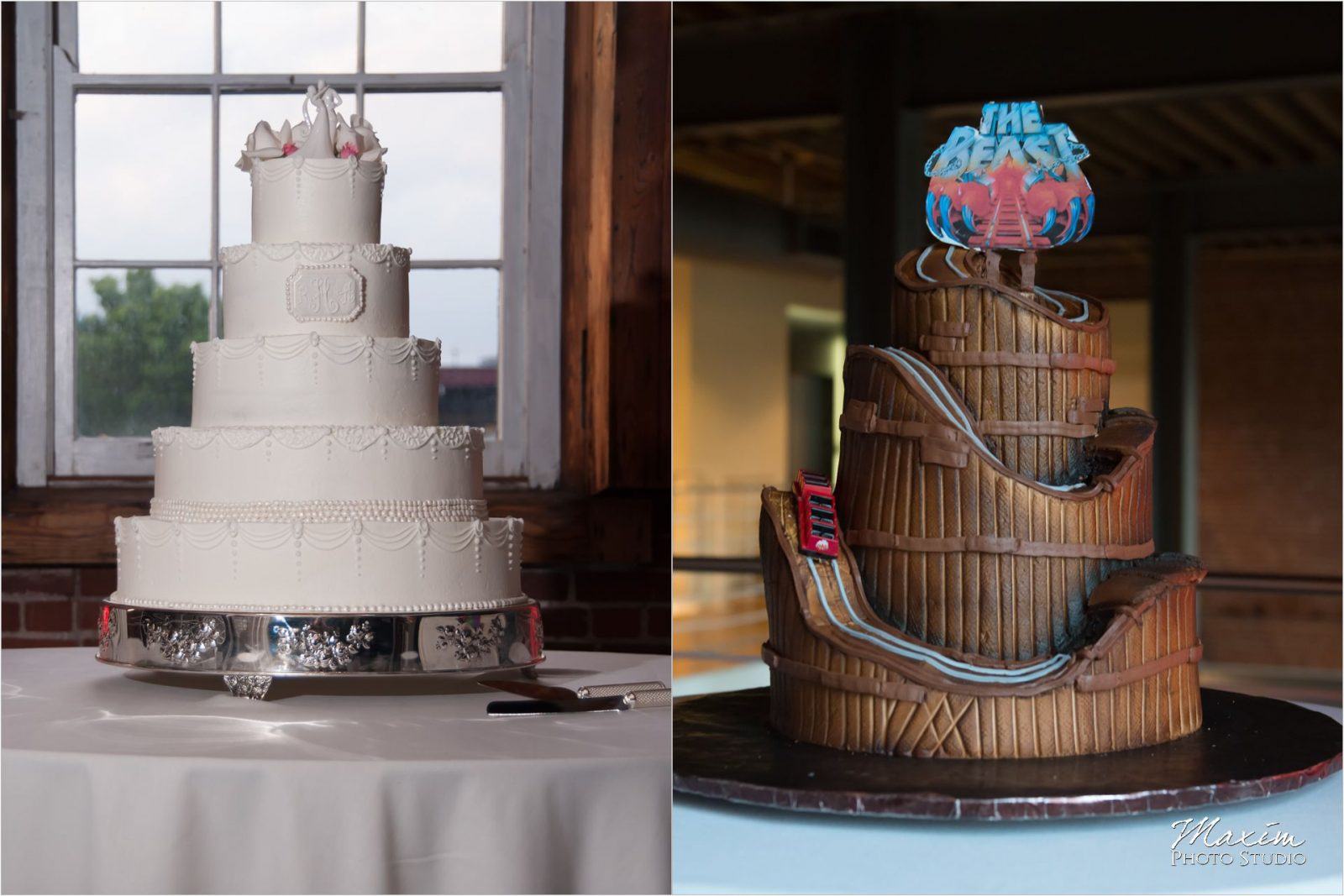 Longworth Hall Cincinnati Wedding Cake Kings Island Beast