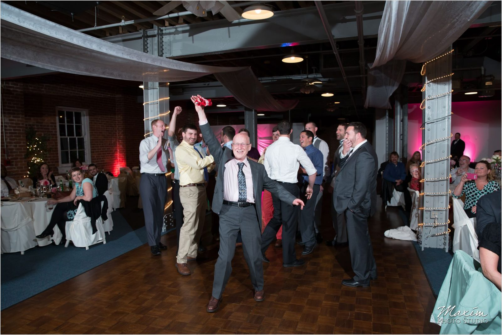 Longworth Hall Cincinnati Wedding Reception Garter Toss