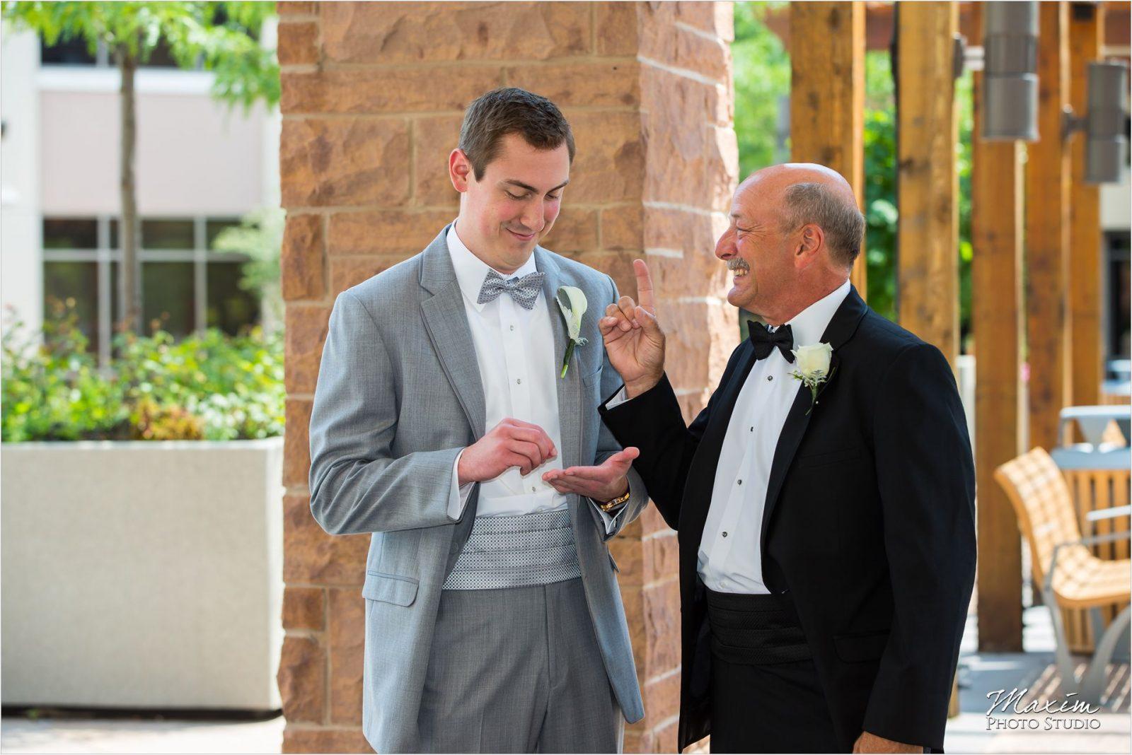 Cincinnati Bell Event Centre Wedding Groom Groomsmen