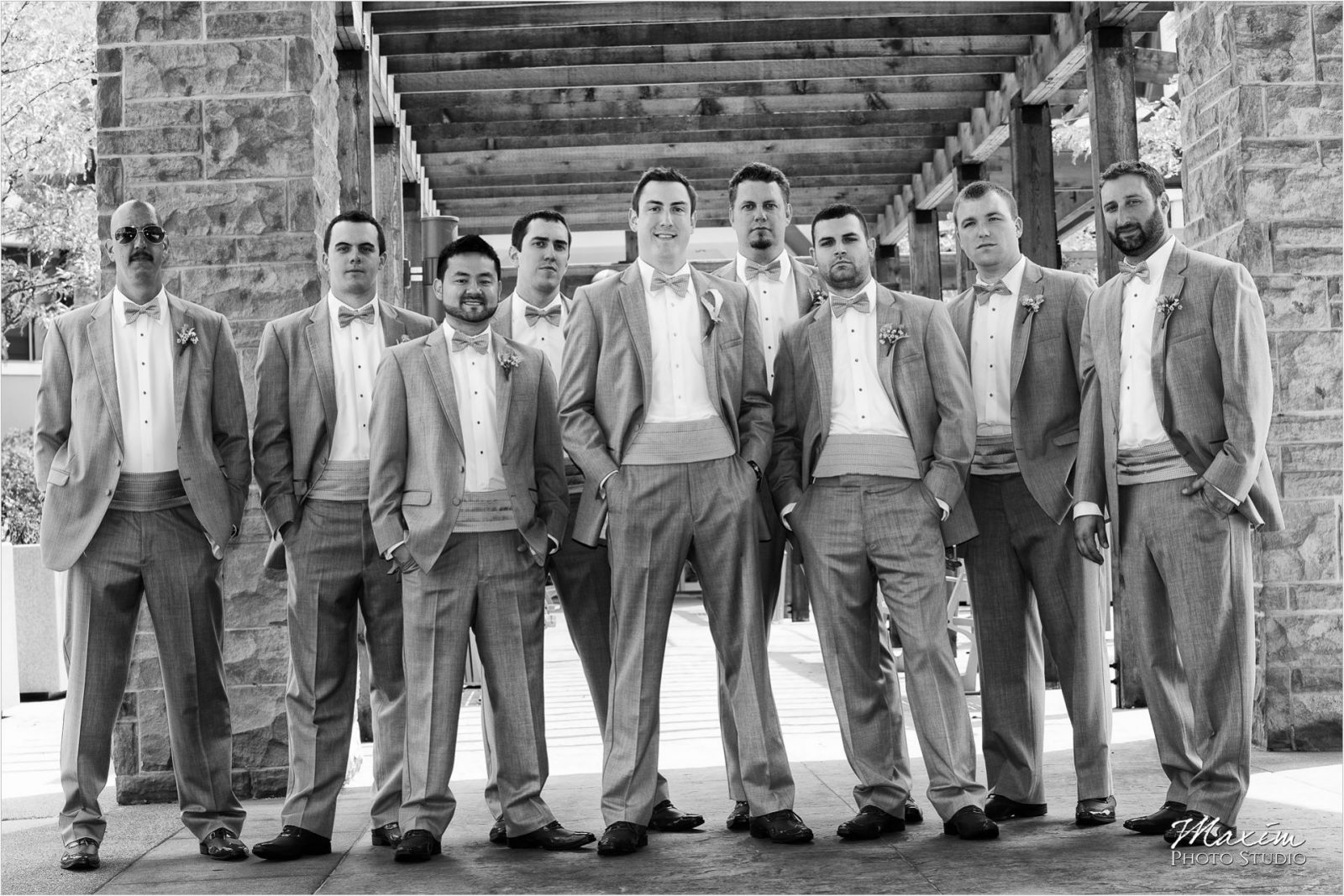 Cincinnati Bell Event Centre Wedding Groom Groomsmen