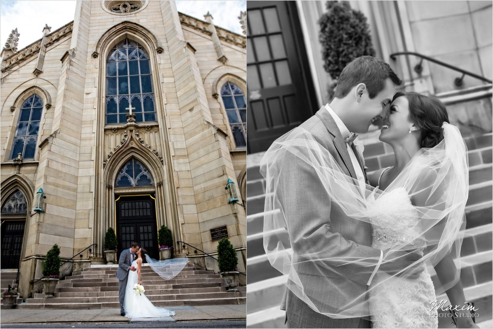 St Xavier Church Cincinnati Wedding Bride Groom