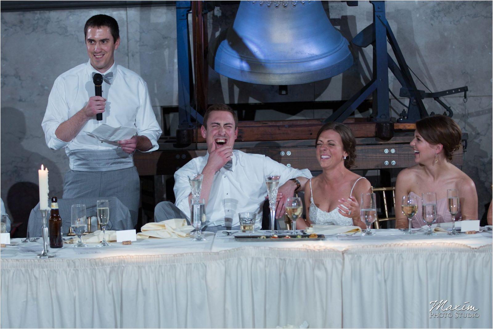 Bell Event Centre Cincinnati Wedding Reception Toasts