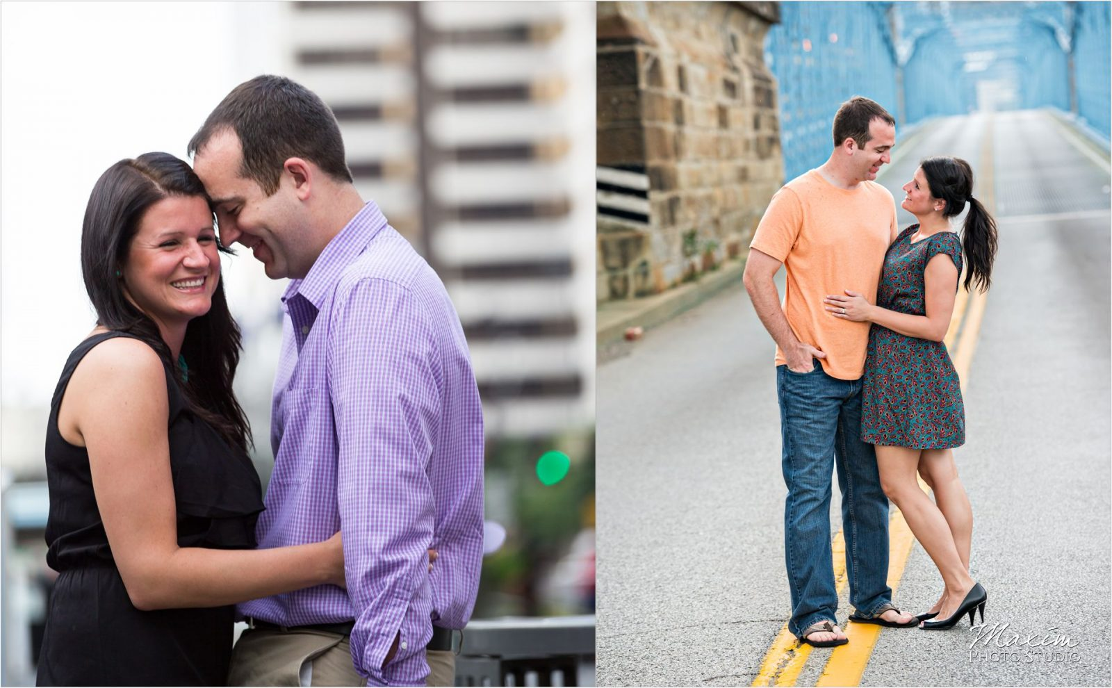 Cincinnati Wedding Photographers Fountain Square Engagement