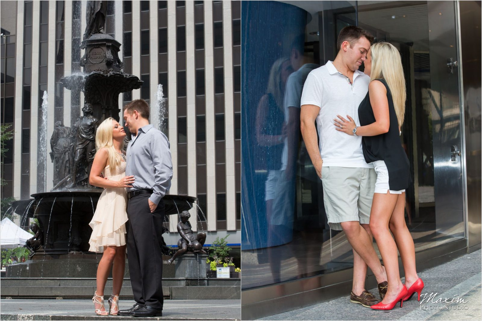 Cincinnati Wedding Photographers Downtown Cincinnati Engagement