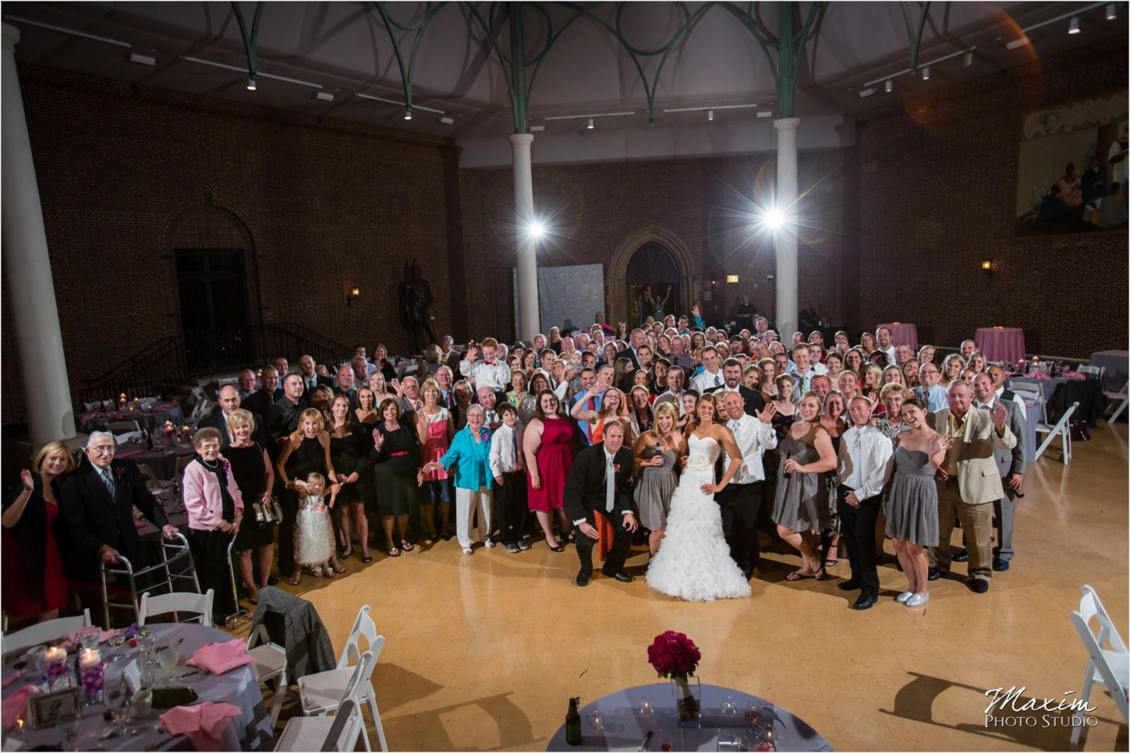 Dayton Art Institute Wedding Reception Group Photo