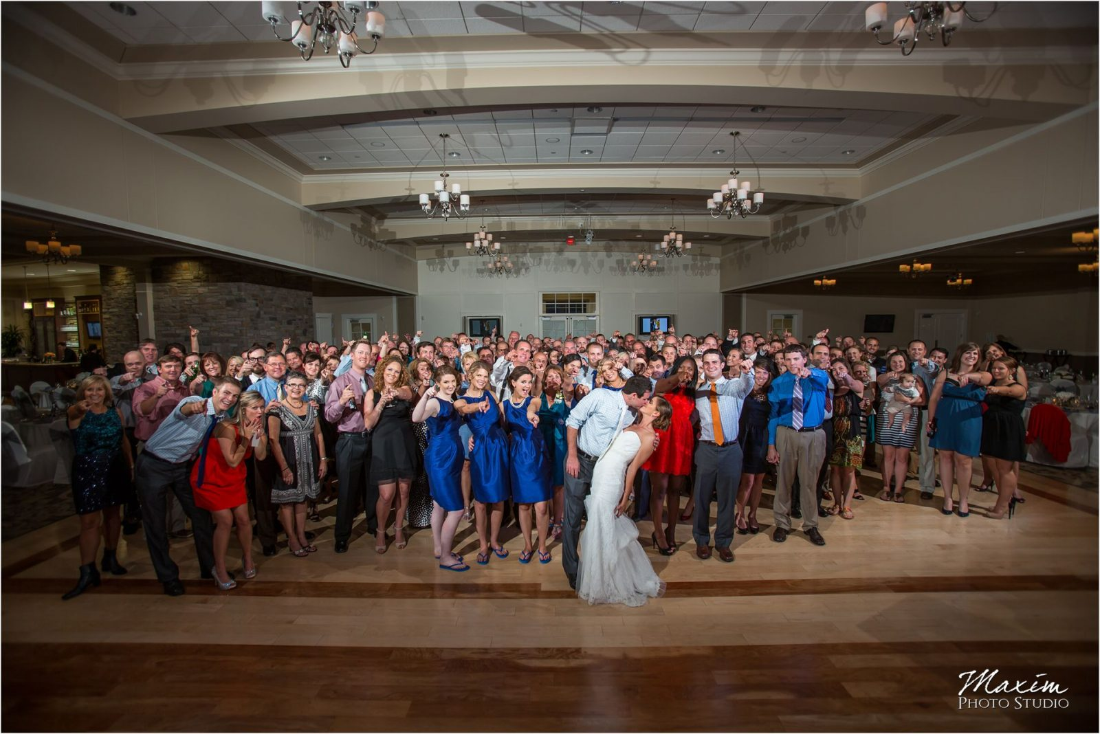 Cooper Creek Event Center Wedding Reception Group Photo