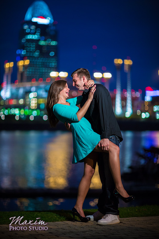 Reds Stadium Cincinnati Skyline engagement